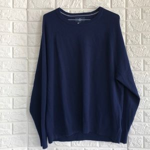 Buttoned Down cashmere royal blue sweater xxl